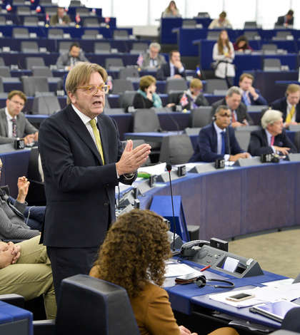Verhofstadt in plenara