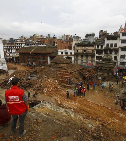 Pagube masive, în urma cutremurului din Nepal (Foto: Reuters/Navesh Chitrakar)