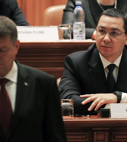 Contre dure între preşedintele Klaus Iohannis şi premierul Victor Ponta