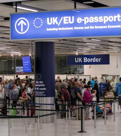 Control pașapoarte la intrarea în Regatul Unit