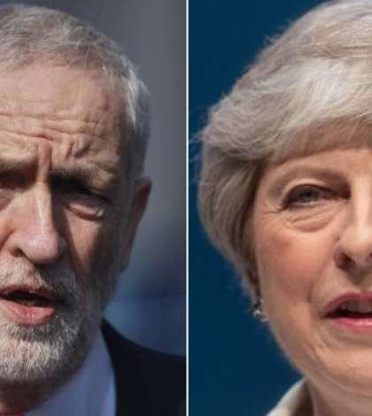 Jeremy Corbyn și Theresa May