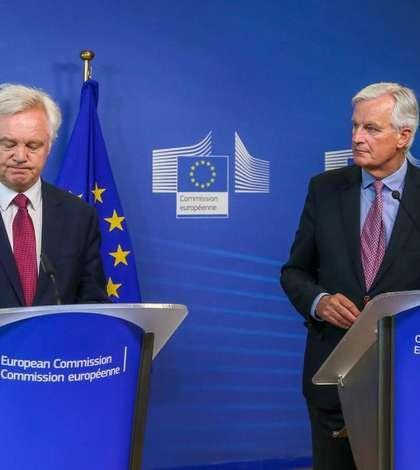 David Davis și Michel Barnier