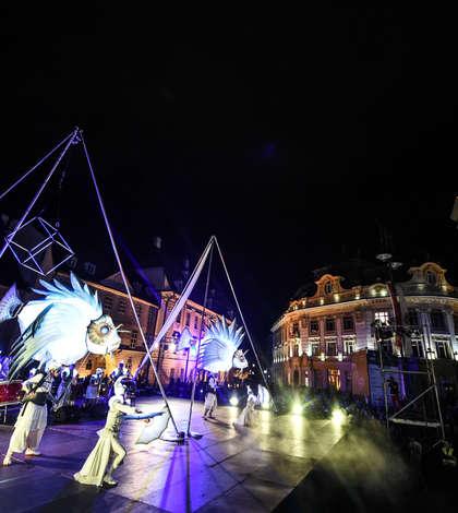 Din abisul oceanelor - spectacol de strada la Sibiu