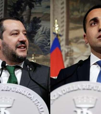 Matteo Salvini, lider al Ligii, si Luigi Di Maio, sef al Miscarii 5 Stele