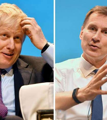 Boris Johnson (stânga) și Jeremy Hunt