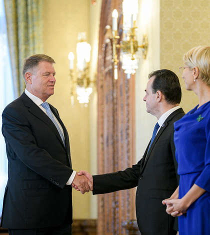 Consultări la Cotroceni, între președintele Klaus Iohannis și delegația PNL (Sursa foto: presidency.ro)
