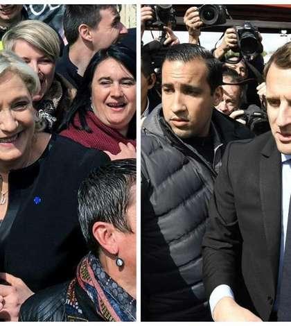 Emmanuel Macron si Marine Le Pen, finalistii pentru prezidentialele din Franta, la uzina Whirpool din Amiens