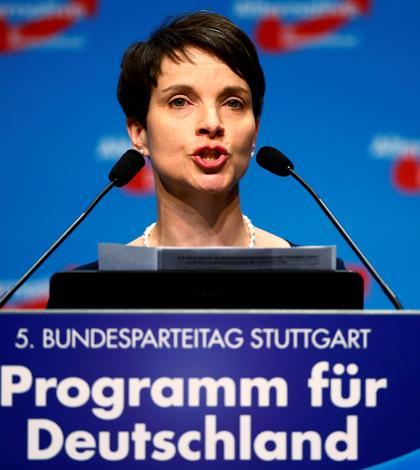 Preşedintele partidului Alternativa pentru Germania, Frauke Petry (Foto: Reuters/Wolfgang Rattay)
