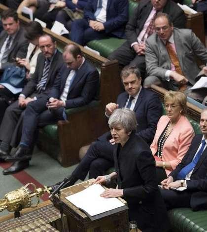 Theresa May în parlament