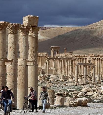 Oraşul antic sirian Palmira (Foto: AFP/Joseph Eid)