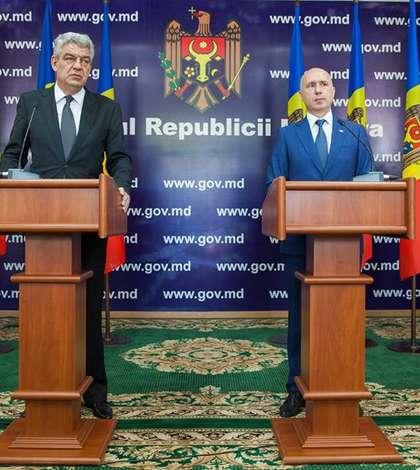 Premierul român, Mihai Tudose şi omologul său moldovean, Pavel Filipy la Chisinau
