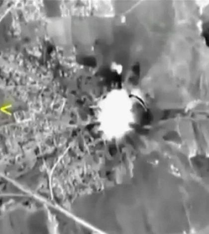 Imagine publicată de Moscova, cu ţintele avioanelor ruseşti din Siria (Foto: Reuters/Ministerul Apărării din Rusia)