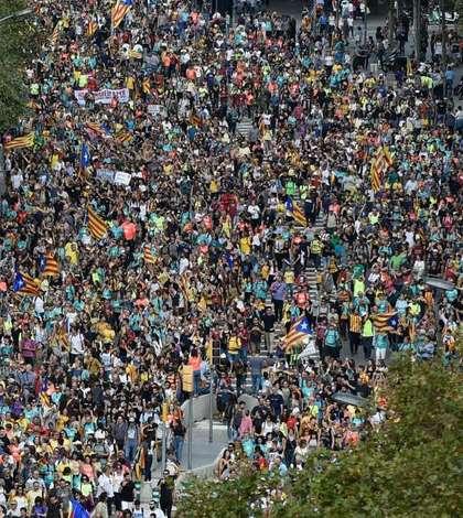 Manifestație gigantică, la Barcelona (Foto: AFP/Josep Lago)