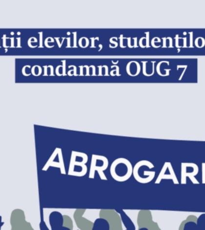 Studenții protestează față de OUG 7, care modifică legile justiției (Foto: site ANOSR)