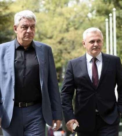 Premierul Mihai Tudose și președintele PSD, Liviu Dragnea