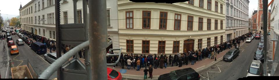 Austria, sectie de vot ICR Viena. Foto: Luiza Puiu via Centrul de Investigatii Media